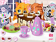Kitty tea party online játék