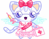 Nurse kitten chan dress up játék